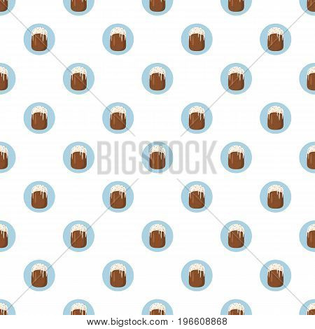 Easter cake pattern seamless repeat in cartoon style vector illustration