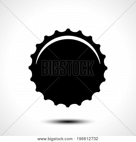 Bottle  cap isolated on white background. Vector illustration. eps 10