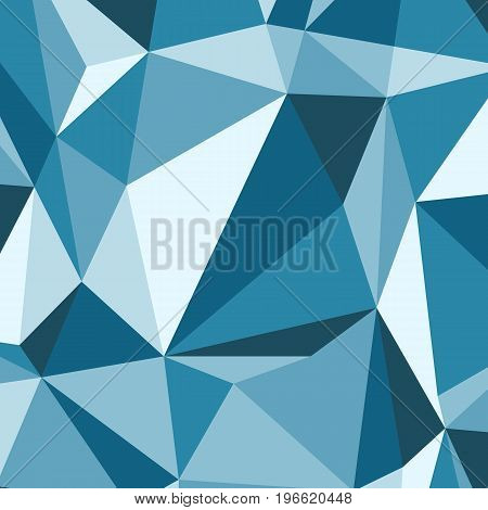Blue polygon abstract triangle background, stock vector
