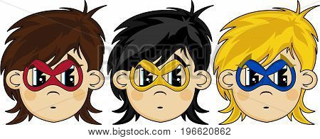Masked Superhero Heads
