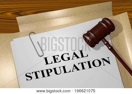 Legal Stipulation Concept