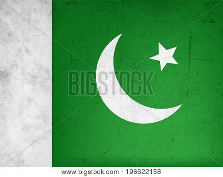 illustration of Pakistan flag background on the occasion of Pakistan defence day
