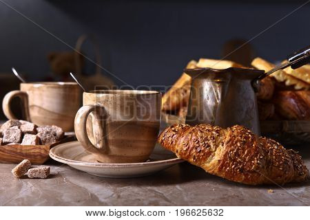 Breakfast With Fresh Pastries.
