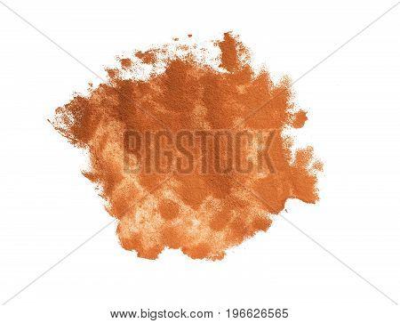 Brown paint blob. Element for different design