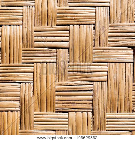 wickerwork from stalks of rattan made in Thailand