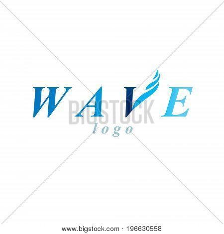 Pure aqua ecology vector logotype. Water day theme. Environment conservation concept.