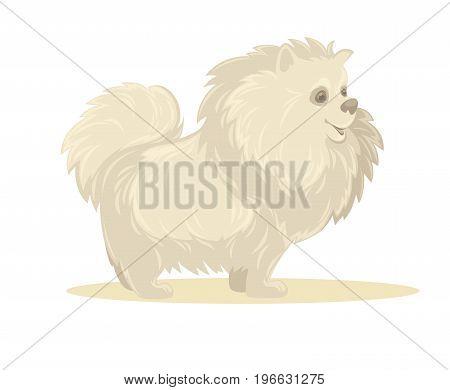 Vector illustration of cartoon dog. Isolated on white.