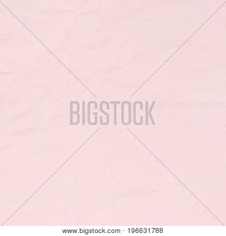 Crumpled pink paper texture background for business education and communication concept design.