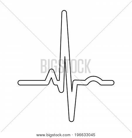 Heart Rhythm Ekg Black Color Path Icon .