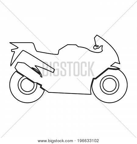 Motorcycle Black Color Path Icon .