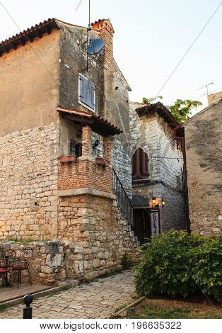 POREC, CROATIA - JULY, 14: View of old house on July 14, 2017