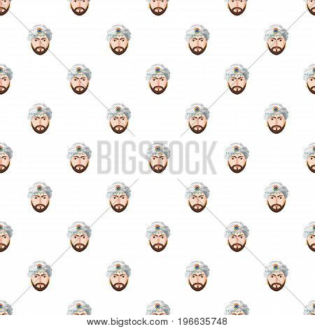 Eastern magician pattern seamless repeat in cartoon style vector illustration