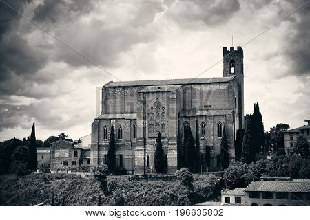 Basilica of San Domenico in old medieval town Siena in Italy