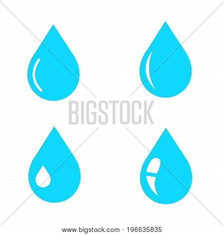 Water drop icon vector illustration on white