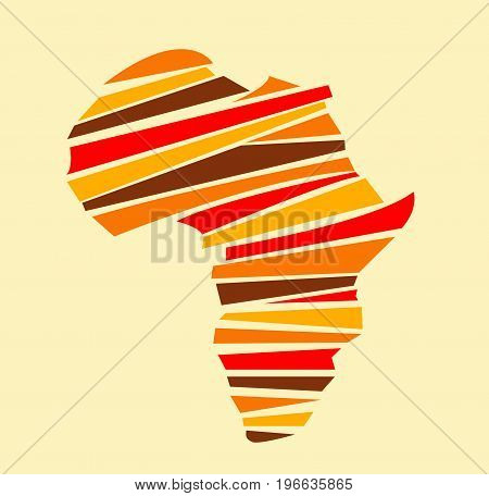 Abstract colored Africa map illustration art design