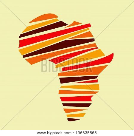 Abstract colored Africa map vector illustration art