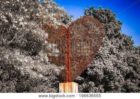 Symbol of love - gigantic heart statue