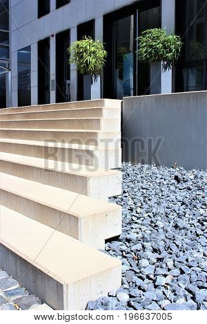 An image of  modern stairs - architecture, stairway