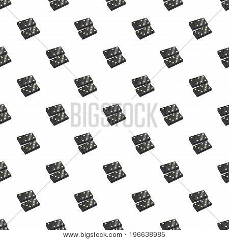 Black dominoes pattern seamless repeat in cartoon style vector illustration