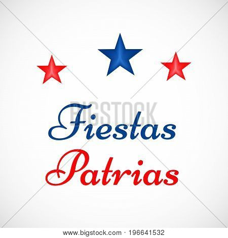 illustration of stars with Fiestas Patrias text on the occasion of Chilean Fiestas Patrias