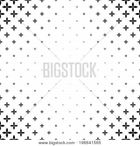 Monochromatic geometric pattern - abstract vector background graphic design from curved shapes
