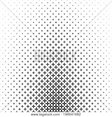 Monochromatic geometric pattern - abstract vector background design from curved shapes