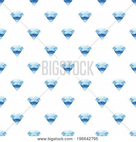 Diamond pattern seamless repeat in cartoon style vector illustration