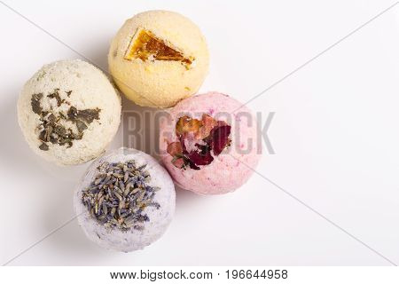 Aromatic Bath Bombs On A White