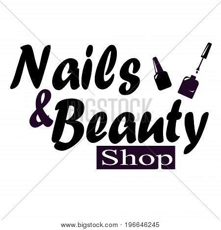 Nail studio logo vector illustration beauty concept
