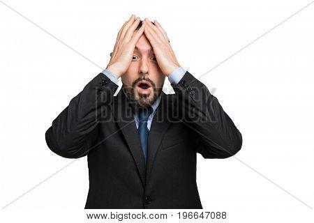 Desperate businessman portrait