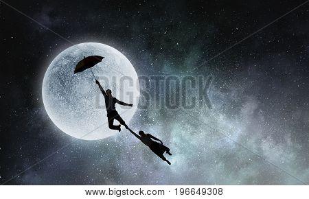 I want to fly away. Mixed media