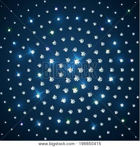 Sparkling diamonds  background  - raster version