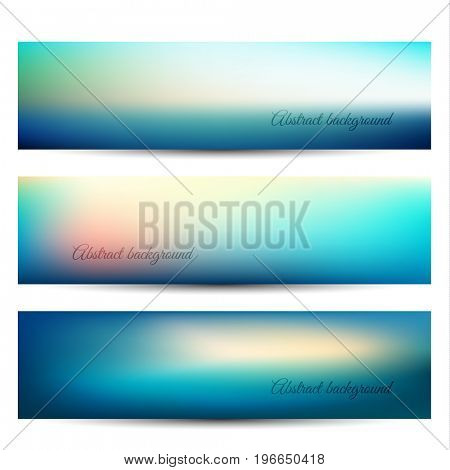 Abstract blurry natural background banners  - raster version