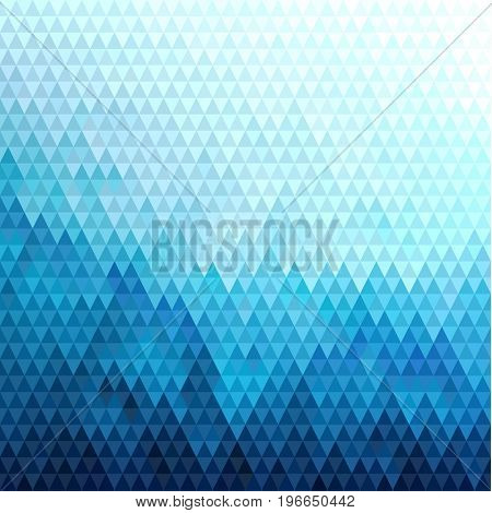 Abstract blue triangles pattern geometric background - raster version