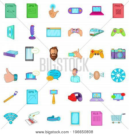 Application for work icons set. Cartoon style of 36 application for work vector icons for web isolated on white background
