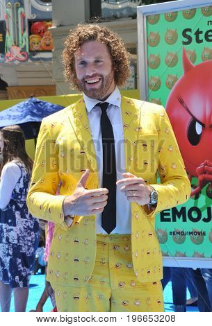 T.J. Miller at the Los Angeles premiere of 'The Emoji Movie' held at the Regency Theatre in Westwood, USA on July 23, 2017.