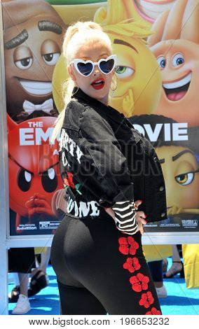 Christina Aguilera at the Los Angeles premiere of 'The Emoji Movie' held at the Regency Theatre in Westwood, USA on July 23, 2017.