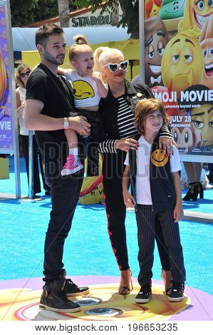 Christina Aguilera and Matthew Rutler at the Los Angeles premiere of 'The Emoji Movie' held at the Regency Theatre in Westwood, USA on July 23, 2017.