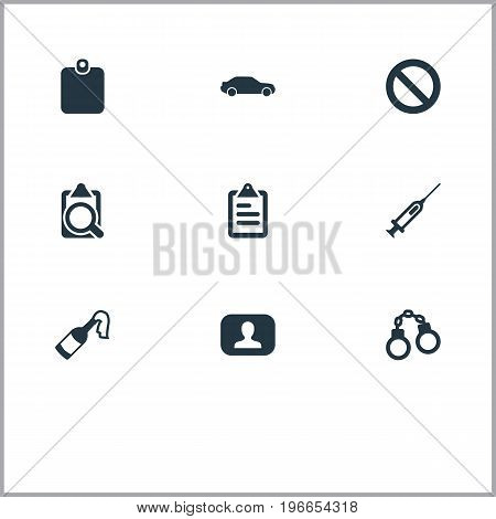 Elements Stop, Bottle, Badge And Other Synonyms Checkbox, Board And Stop.  Vector Illustration Set Of Simple Fault Icons.