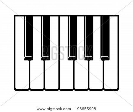 Piano keyboard icon. Simple illustration of grand piano key vector icons for web