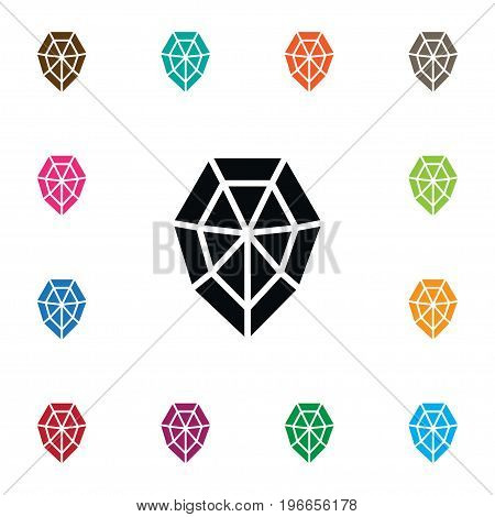Diamond Vector Element Can Be Used For Diamond, Wealthy, Gem Design Concept.  Isolated Wealthy Icon.