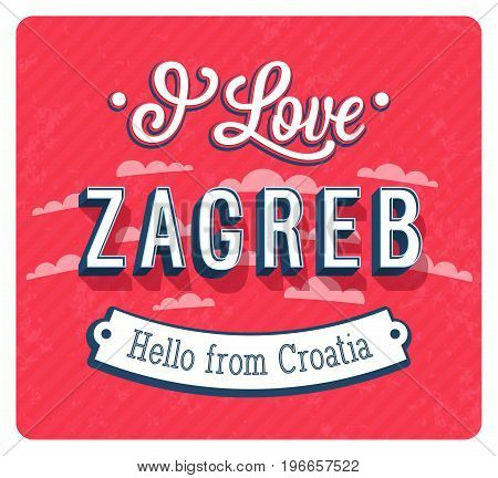 Vintage Greeting Card From Zagreb - Croatia.