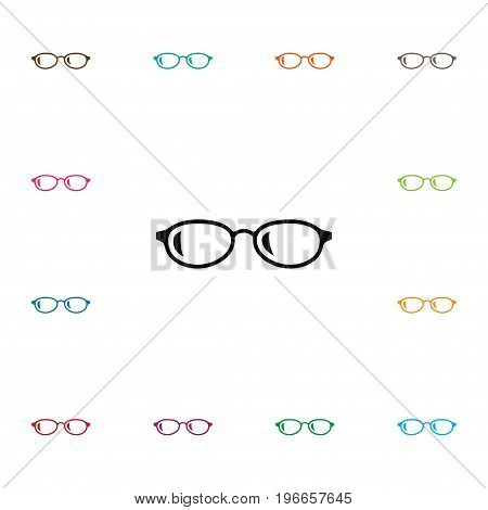 Geek Vector Element Can Be Used For Eyeglasses, Spectacles, Sunglasses Design Concept.  Isolated Eyeglasses Icon.