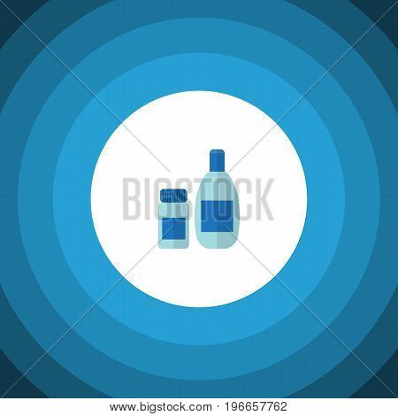 Cream With Lotion Vector Element Can Be Used For Cosmetics, Lotion, Cream Design Concept.  Isolated Cosmetics Flat Icon.