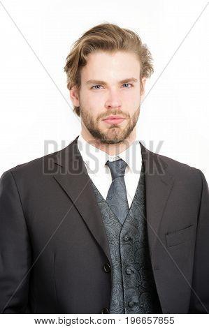 Businessman Or Ceo In Black Jacket.
