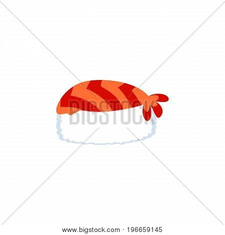 Gourmet Vector Element Can Be Used For Sushi, Gourmet, Seafood Design Concept.  Isolated Sushi Flat Icon.