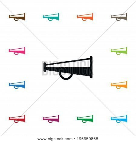 Bullhorn Vector Element Can Be Used For Bullhorn, Alert, Megaphone Design Concept.  Isolated Alert Icon.