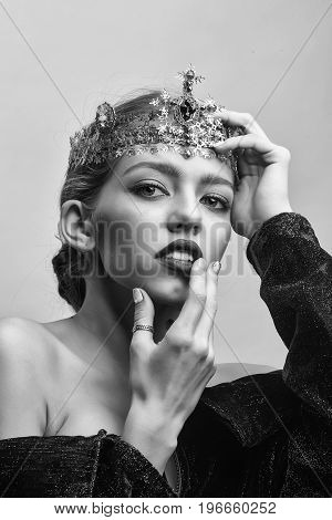 Woman With Luxury Crown