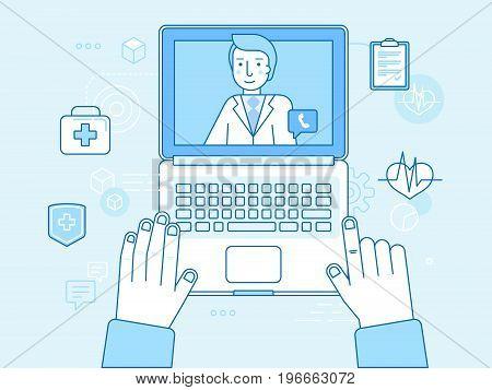 Online And Tele Medicine Concept