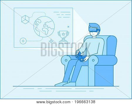 Virtual Reality Glasses Illustration